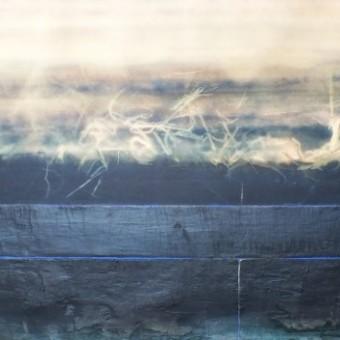 In riva al lago le canne si muovono. Brezza serale. (b)